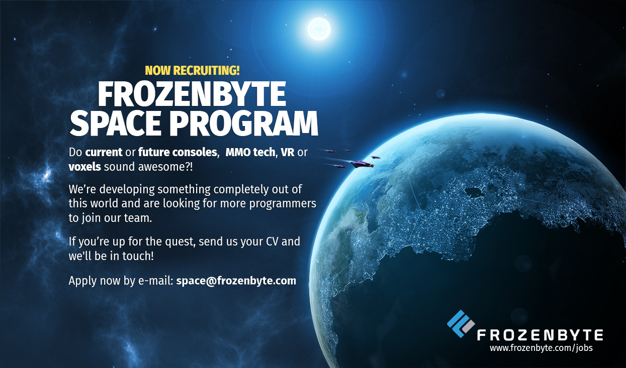 Jobs frozenbyte for Jobs in outer space